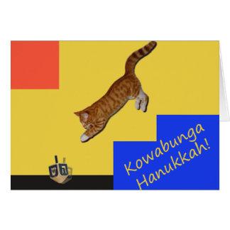 Kowabunga Cat Hanukkah Card