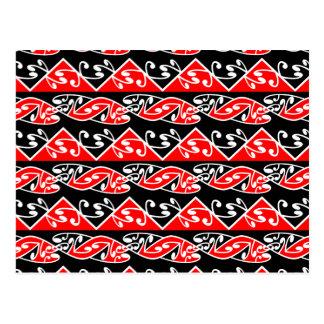Kowhaiwhai Traditional Maori Koru Pattern Postcard