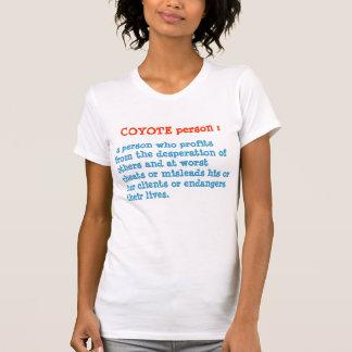 KOYOTE person : ANIMAL Behaviour T-shirts