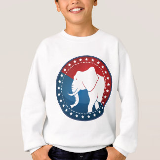 Kozzi-illustrated-image-of-a-elephant-badge-5000x5 Sweatshirt