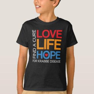 Krabbe disease awareness shirt, dark tee for kids