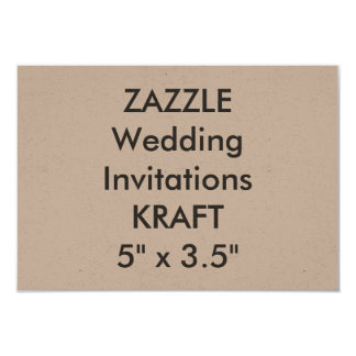 "KRAFT 100lb 5"" x 3.5"" Wedding Invitations"