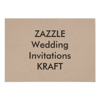 "KRAFT 5"" x 3.5"" Wedding Invitations"