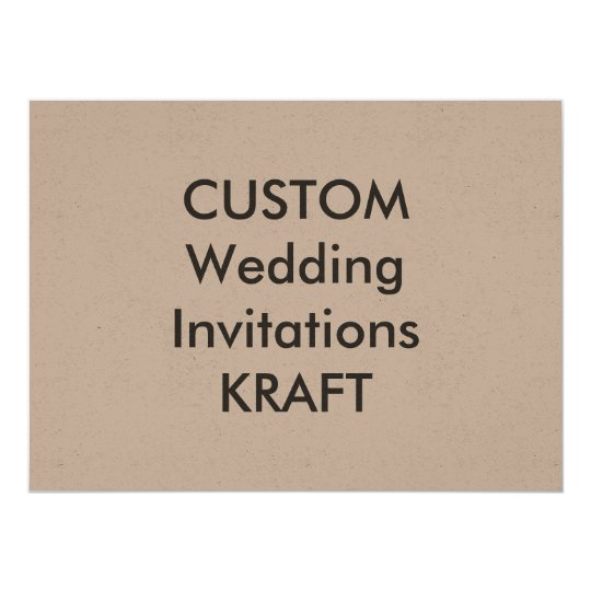 "KRAFT 7.5"" x 5.5"" Wedding Invitations"