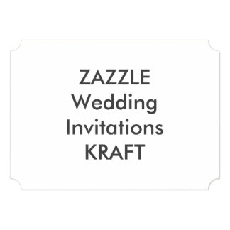 "KRAFT 7"" x 5"" Ticket Wedding Invitations"