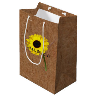 Kraft Autumn Bride Sunflower Party Gift Bag