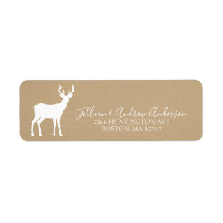 Kraft Christmas Deer Address Label