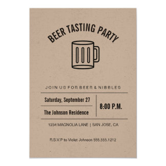 Kraft Collection Beer Tasting Invitation
