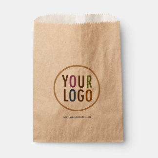 Kraft Favour Bags with Custom Logo Branding in