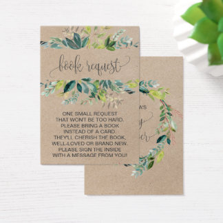 Kraft Foliage Book Request Invitation Insert
