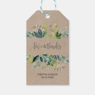 Kraft Foliage Love & Thanks Gift Tags