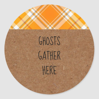 Kraft Ghosts Gather Here Halloween Party Stickers