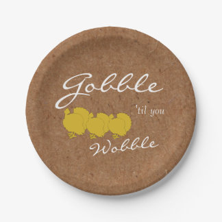 Kraft Gobble And Wobble Thanksgiving Party Plates
