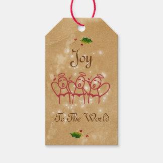 Kraft Joy To The World Christmas Angels Gift Tags