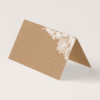 Kraft Lace Place Card