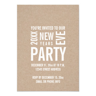 Kraft Modern New Years Eve Party Invite
