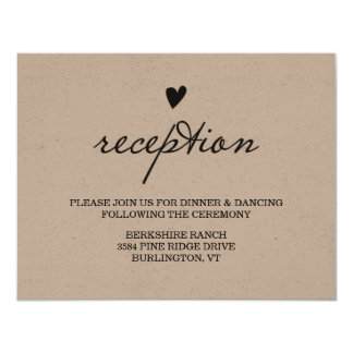 Kraft Paper Reception Card