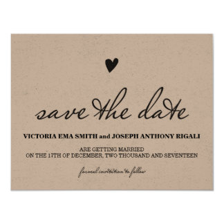 Kraft Paper Save The Date Card