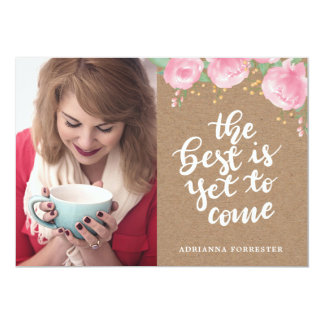 Kraft Paper The Best Is Yet To Come | Grad Photo Card