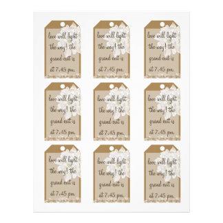 Kraft Paper Wedding : Sparkler Favor Tags