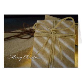 Kraft Present Christmas Card