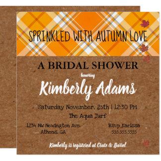 Kraft Sprinkle With Autumn Love Party Invitation