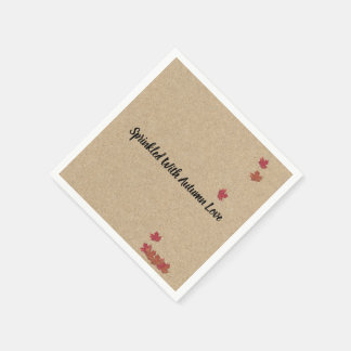 Kraft Sprinkled With Autumn Love Party Napkins Disposable Napkin