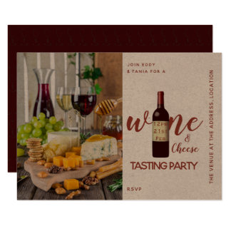 Kraft Wine Cheese Tasting Party Invitations Foody