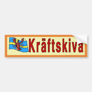 Kräftskiva, crayfish party, Sweden Bumper Sticker