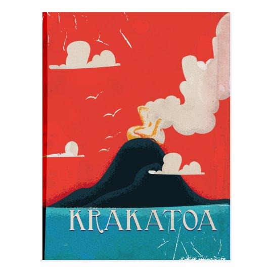 Krakatoa Vintage Vacation Poster Art Postcard