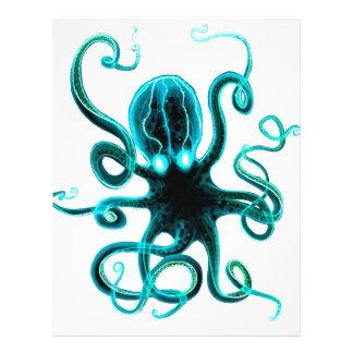Kraken_Aqua Personalized Letterhead