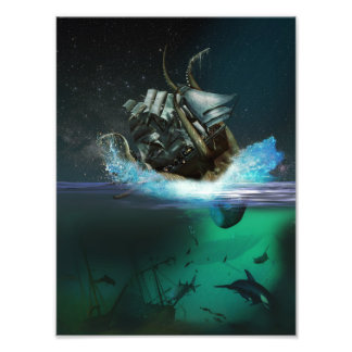 Kraken Attack Photo Print