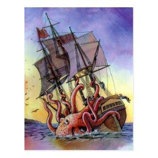 Kraken Attack Postcard