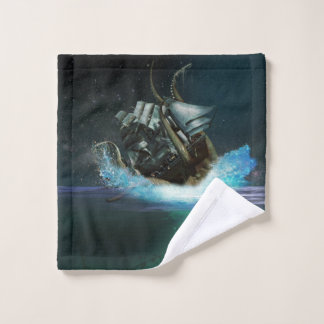 Kraken Attack Wash Cloth