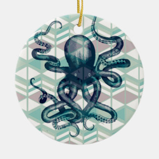 kraken Aztec vintage Ceramic Ornament