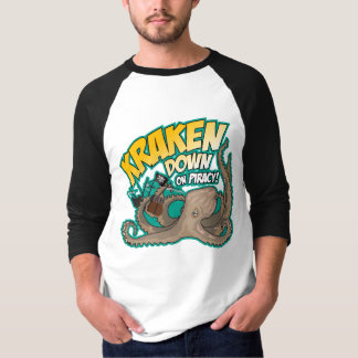 Kraken Down On Piracy T-Shirt