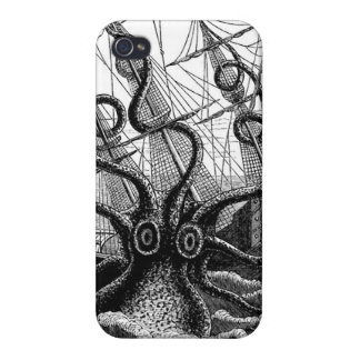 Kraken Eatting a Sailing Ship iPhone 4/4S Cases