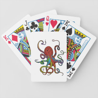 Kraken_h6_rainbow_4 Bicycle Playing Cards