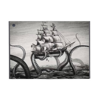 Kraken Holding Pirate/Sailing Ship iPad Mini Folio Covers For iPad Mini