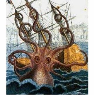Kraken Steampunk Octopus Vintage Photo Sculpture Magnet