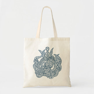 Kraken The Sea Monster Budget Tote Bag