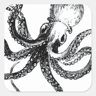 Krakken The Octopus Square Sticker