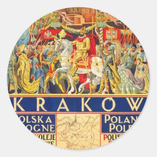 Krakow Classic Round Sticker