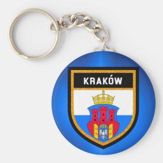 Kraków  Flag Basic Round Button Keychain