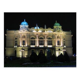 Kraków  Juliusz Słowacki Theatre. Postcard