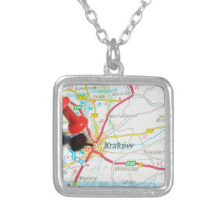 Kraków, Krakow, Cracow in Poland Silver Plated Necklace