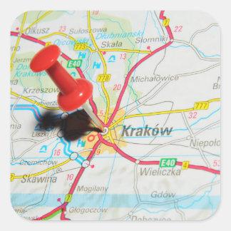 Kraków, Krakow, Cracow in Poland Square Sticker