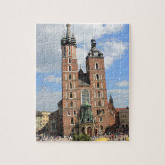 Krakow, Mariacki Church, St Mary's church, gifts Jigsaw Puzzle