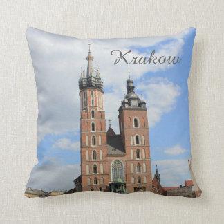 Krakow, Mariacki Church, St Mary's church, gifts Throw Pillow