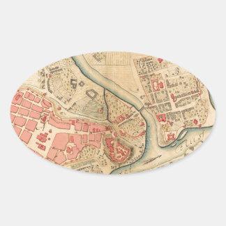 Krakow Poland 1755 Oval Sticker